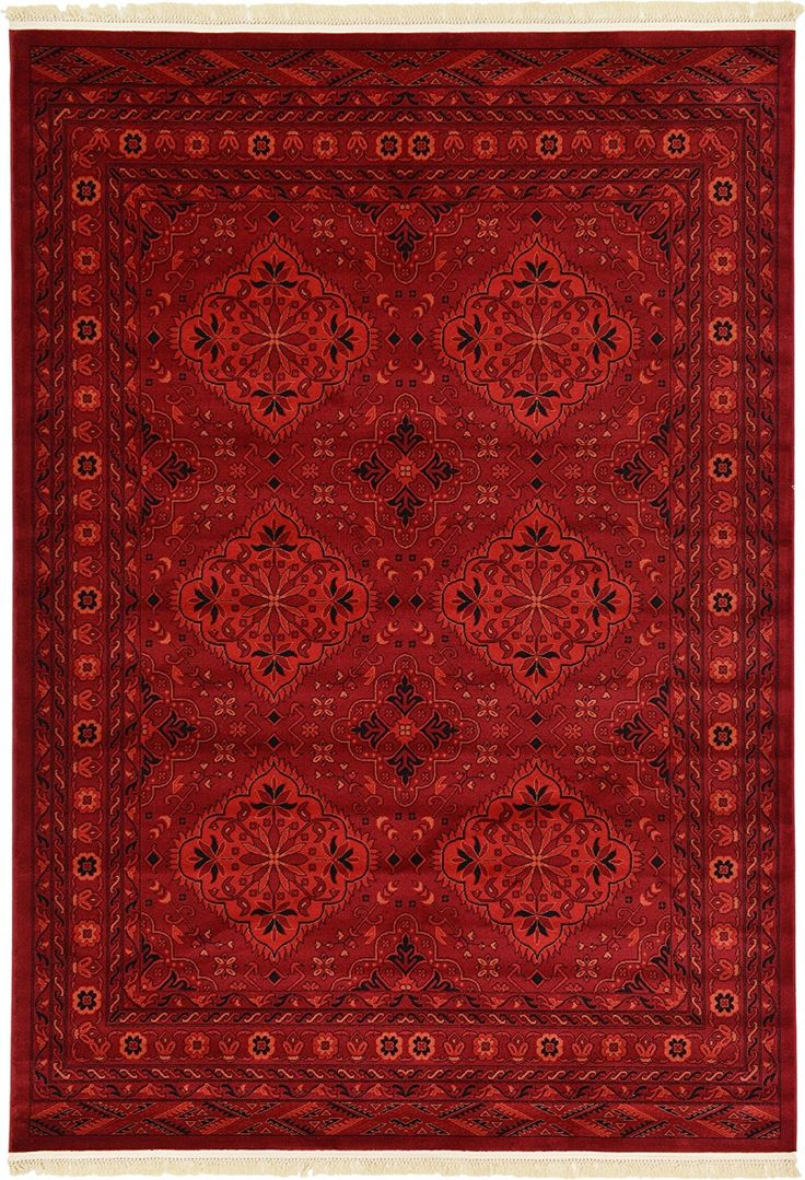 Amazon.com: Tribal 7 feet by 10 feet (7' x 10') Bokhara Red Area Rug: Kitchen & Dining