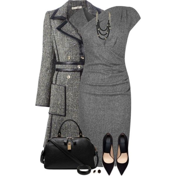 Gray Dress by daiscat on Polyvore featuring L.K.Bennett, Balenciaga, Zara, Tat2 Designs, STELLA McCARTNEY and Principles by Ben de Lisi