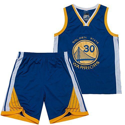 Men's NBA Jersey The Golden State Warriors NO.30 Stephen Curry Basketball Jersey Suit Blue-M