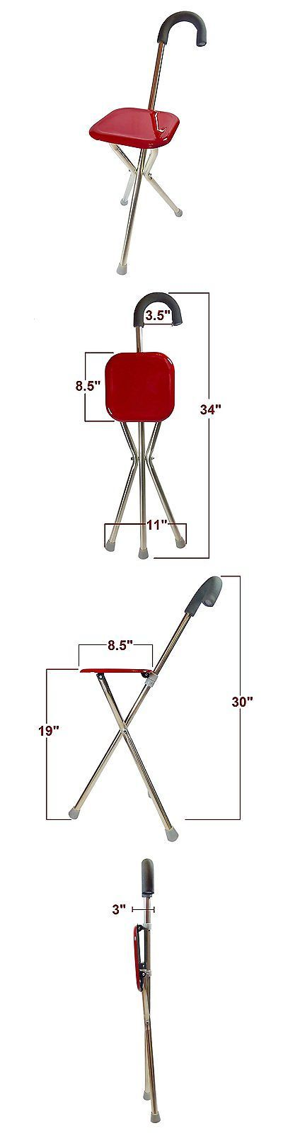 Walkers and Canes: Walking Cane With Seat - Doubles As A Folding Walking Stick And A Tripod Seat - -> BUY IT NOW ONLY: $32.97 on eBay!
