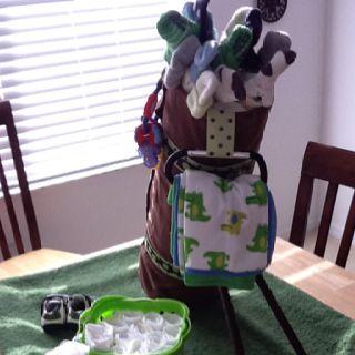 How To Make A Baby Shower Diaper Bag Cake