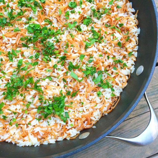 Syrian Rice Pilaf - The Lemon Bowl