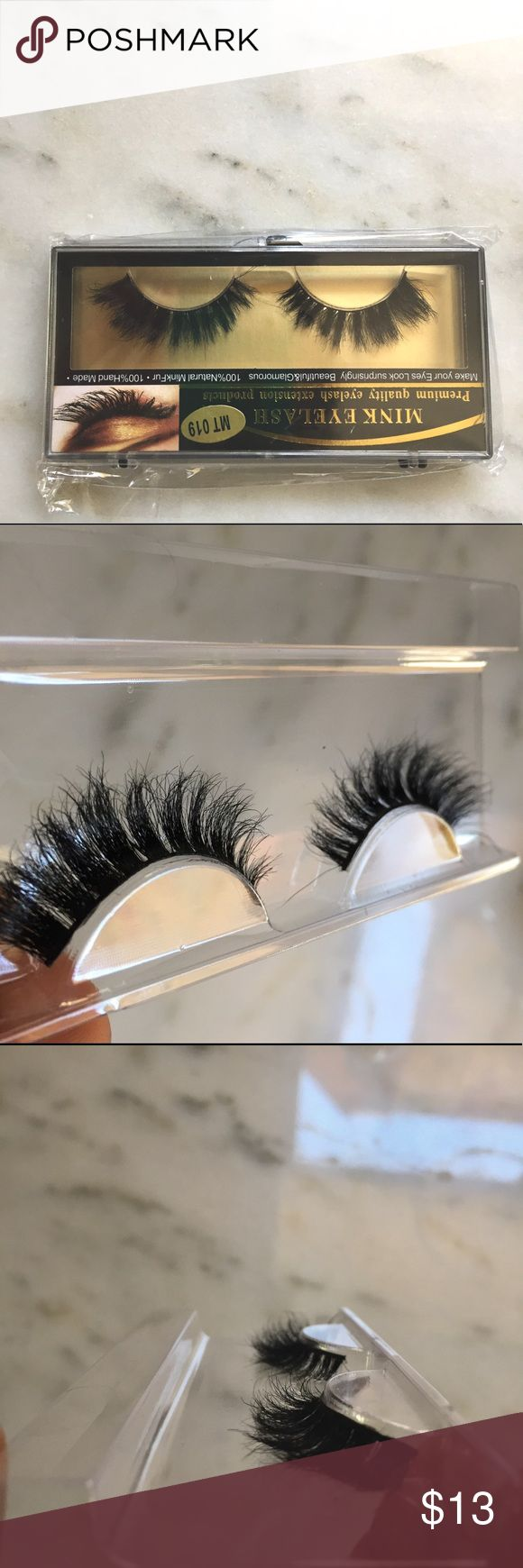Stunning MINK lash strips Beautiful lash strips look just like a full set of MINK individual lashes! Wispy full and realistic for day or night. you will receive a brand new set of strips never opened  Fashion Nova Makeup False Eyelashes
