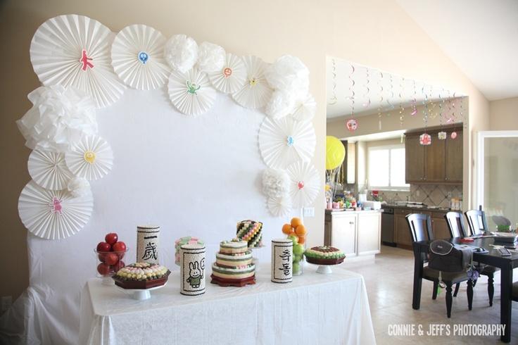 Dol Janchi / Korean First Birthday Tablescape :)