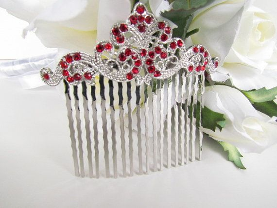 Hey, I found this really awesome Etsy listing at https://www.etsy.com/listing/162509868/red-hair-comb-ruby-red-bridal-hair