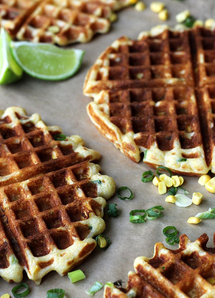 corn + scallion waffles ]