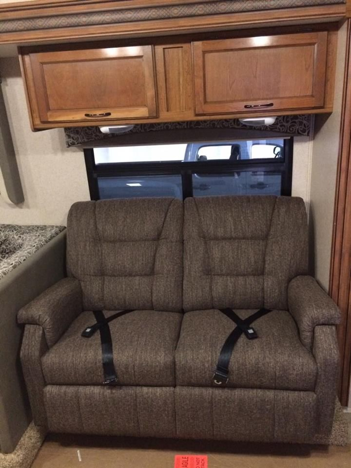 "Lambright Superior 58"" Wall Hugger RV Recliner Loveseat."