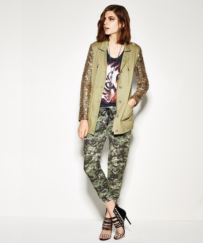 Faubourg du Temple Jacket, Idlewild Tee & Go Make Noise Pants, camouflage pants