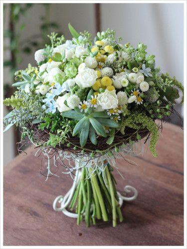 wedding,bouquet,clutch,kranz,natural,succulent plants,matricaria