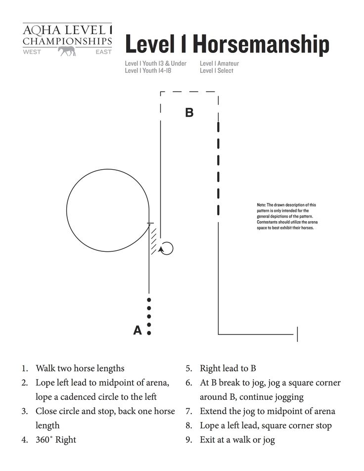 Level 1 horsemanship pattern for the 2015 AQHA Level 1 Championships