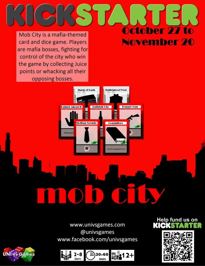 Mob City: The Card Game is now live on kickstarter https://www.kickstarter.com/projects/1584193706/mob-city-the-card-game