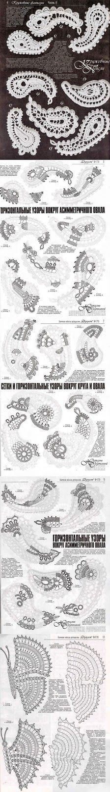 patrones de adornos de encaje de ganchillo irlandés