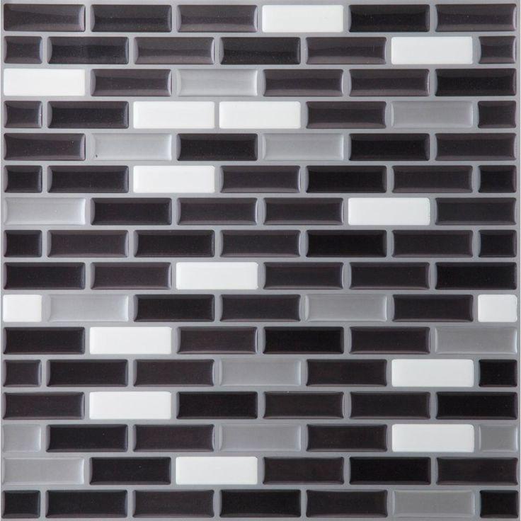 Achim 9.125 in. x 9.125 in. Magic Gel Mosaic Decorative Wall Tile in Spectrum Metallic-MGTSPCMT24 - The Home Depot