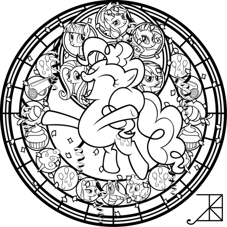 SG Pinkie Pie coloring page Horse coloring pages