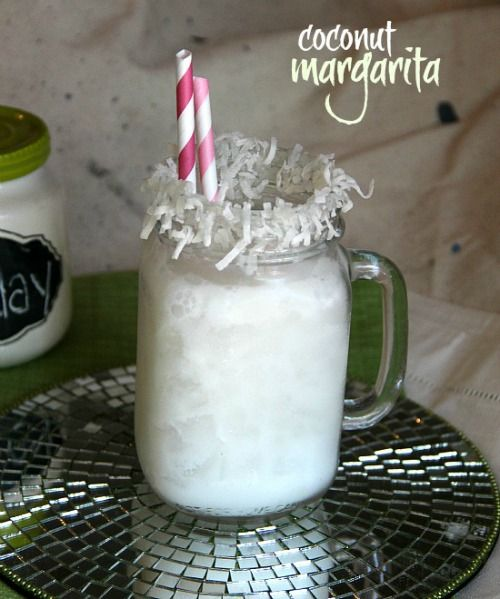 Coconut Margarita   I Could use a Drink about NOW!   Pinterest