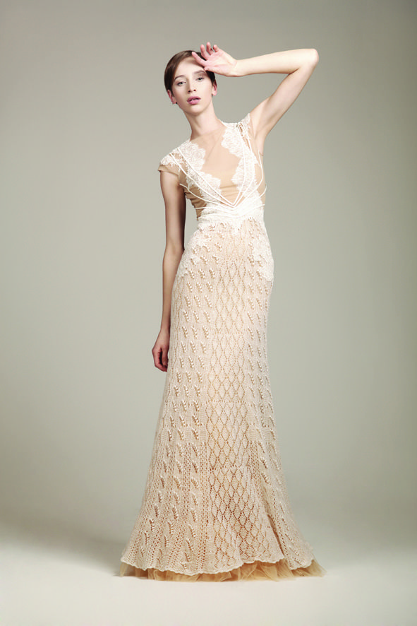 KV Couture, fashion designer Kristina Viirpalu, Ene dress, http://www.kvcouture.eu/haute-couture/ #kvcouture #kristinaviirpalu #knitted #lace #dress #gown #bridal #white