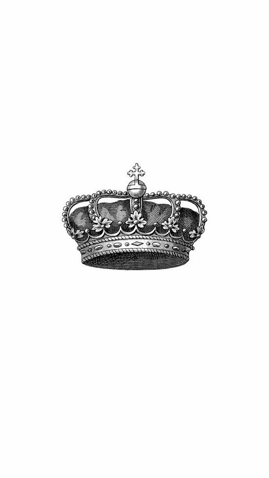 Minimal white black grey crown iphone wallpaper background phone lock screen