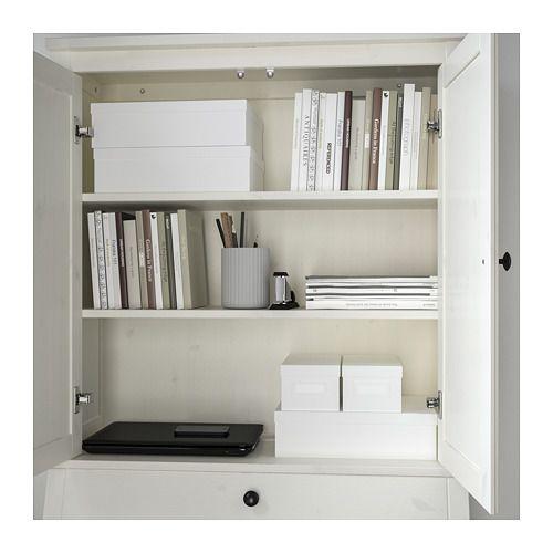 HEMNES Secretary with add-on-unit - white stain - IKEA