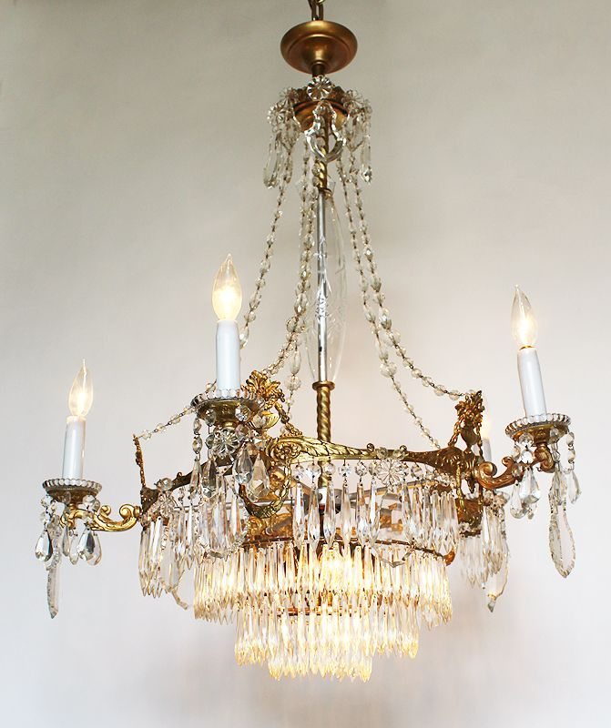 110 best victorian crystal chandelier images on pinterest 1890 victorian reproduction chandelier home chandeliers crystal aloadofball Image collections