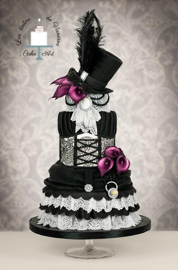 Vintage dress  by Vanessa Rodríguez - http://cakesdecor.com/cakes/254162-vintage-dress