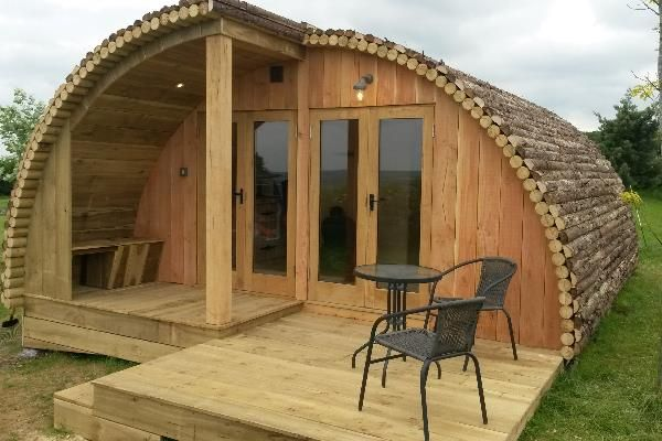 family glamping pod and garden room office