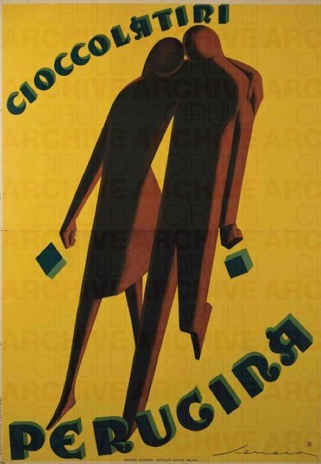 Design by Federico Seneca, 1928, Cioccolatini Perugina. (I)
