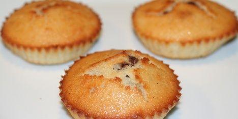 Lækre muffins med marcipan.