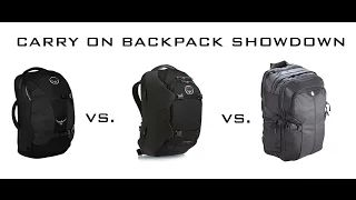 Carry-on ONLY backpacks for RTW travel Part 1/3 (Tortuga Air, Osprey Farpoint 40, Osprey Porter 46) - YouTube