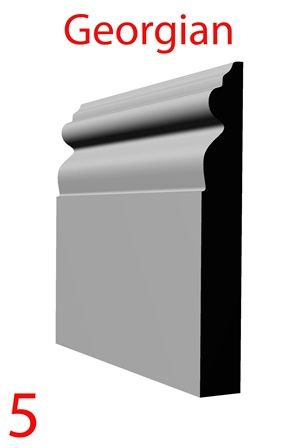Georgian skirting board profile from skirtingboardsdirect,com