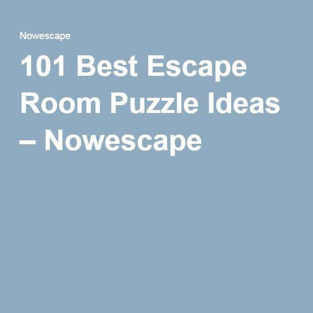 101 Best Escape Room Puzzle Ideas Nowescape Escape