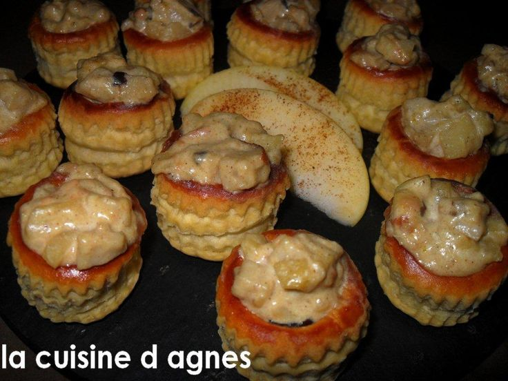 feuilletés de boudin blanc foie gras et pomme