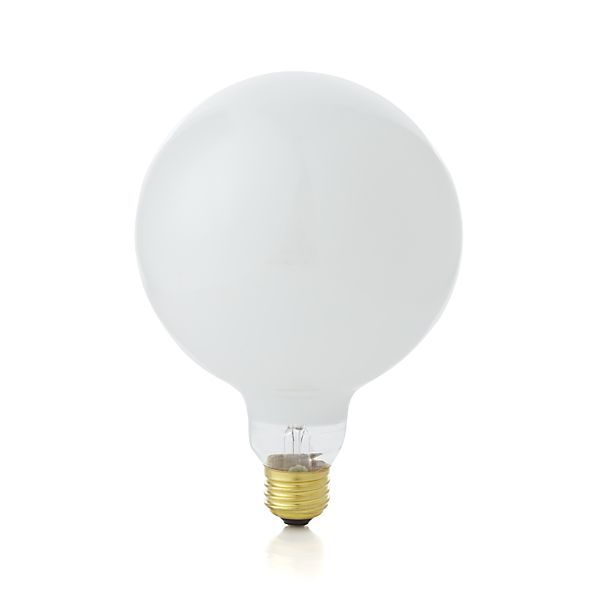 Large 60W Soft White Globe Light Bulb  | Crate and Barrel