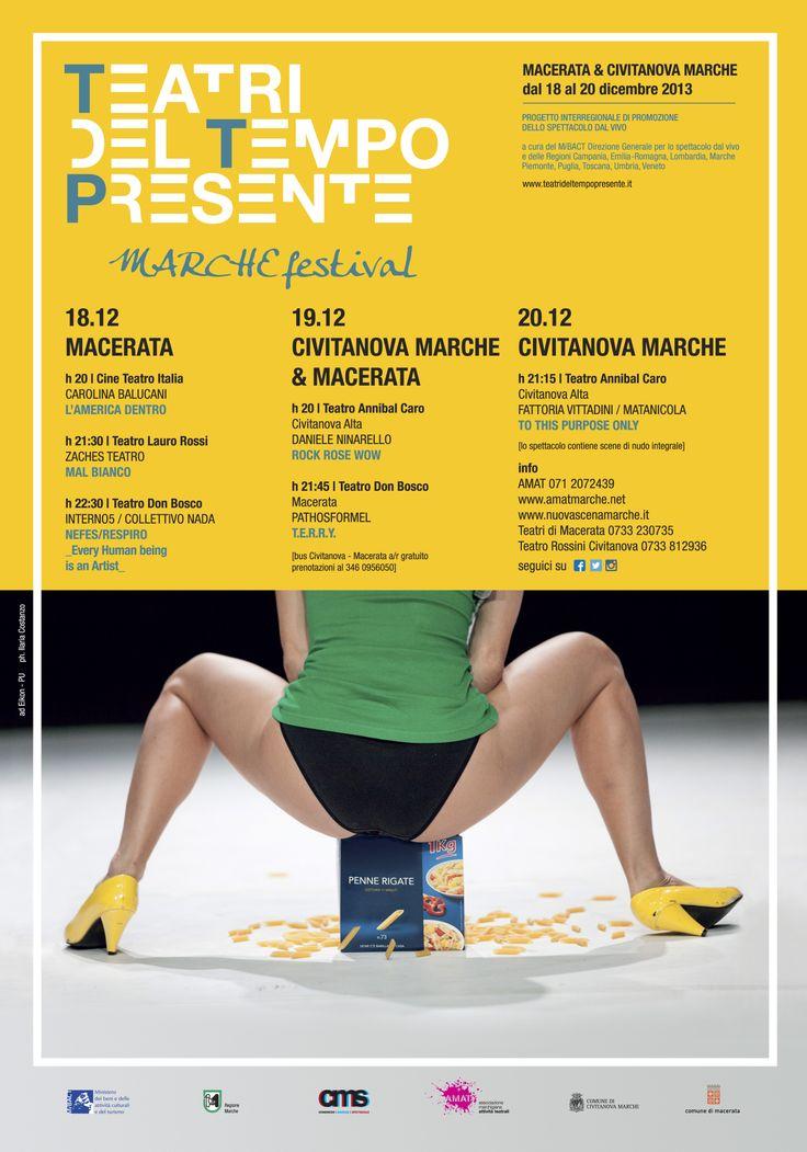 La #Danza dei Teatri del Tempo Presente @tdTpresente ai #TeatriDICivitanova 19 e 20 dic. #CivitanovaDanza @plateaviva