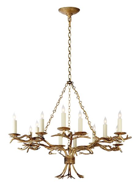 visual comfort chc5374gi e f chapman branch chandelier in gilded iron interior design. Black Bedroom Furniture Sets. Home Design Ideas