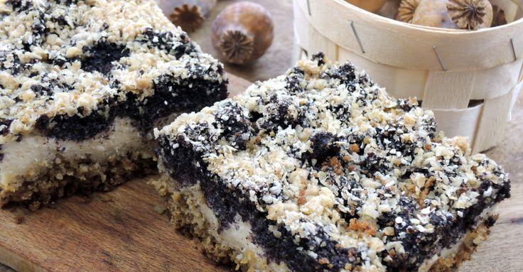Recept na Tvaroho-makový koláč bez mouky z kategorie snadno a rychle, fitness, vegetariánské: Na pekáček o rozměru 30 x 18 cm budeme potřebovat: Korpus ...