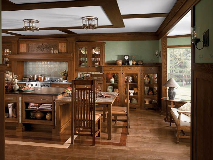 20 best craftsman style interiors images on pinterest for Kitchen designs american style