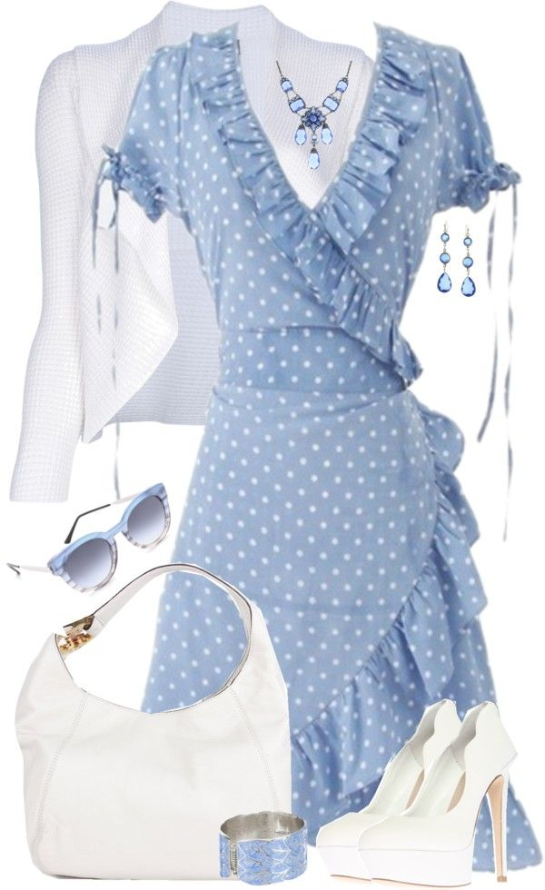 """Gorgeous Wrap Dress"" by lmm2nd ❤ liked on Polyvore"