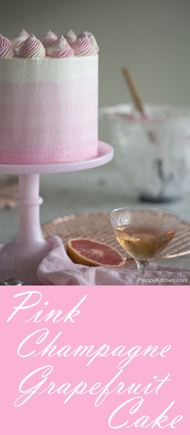 Grapefruit Champagne Cake via @preppykitchen