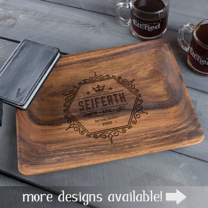 Etsy wood tray, serving tray wood, anniversary gifts for men, birthday gifts for mom, family name wood sign #personalize #customize #affiliate #commissionlink