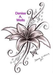 Lily Song Tattoo Design By Denise A Wells  Flickr Photo Sharing