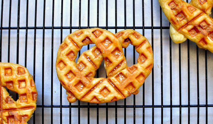 Waffle Iron Soft Pretzels