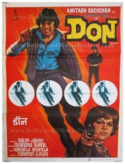 Don 1978 Amitabh Bachchan old hindi movie posters for sale