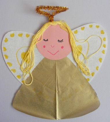 Angel craft for Christmas.