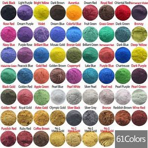 Cosmetic Grade Natural Mica Pigment Powder Dye Soap Candle Colorant 60 Color