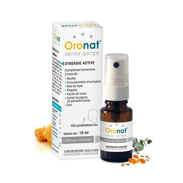 Oronat - Spray gorge - Contribue à apaiser les voies respiratoires ( #eucalyptus ). - Complément alimentaire -  #myrrhe #miel de thym #propolis #huile essentielle d'eucalyptus - Prix : 16,50 € TTC