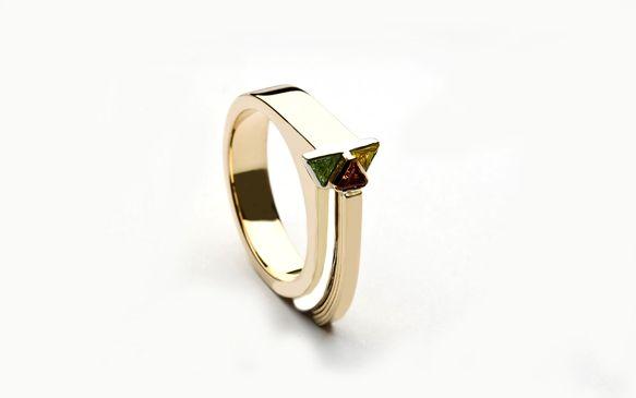 Three Trillion Cut Diamond Ring