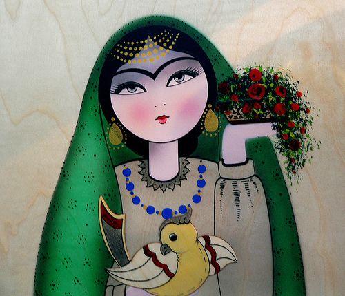 "Persian ""Khatoon"" artwork. I love this stuff!"