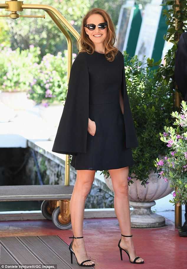 6ac2e27f3d3f Stepping out  Natalie Portman was spotted stepping out at the Venice Film  Festival on Tues.