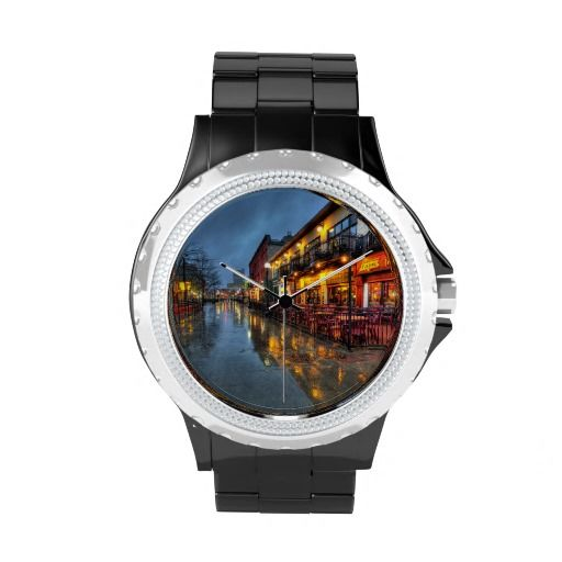 Street Reflections Wrist Watch