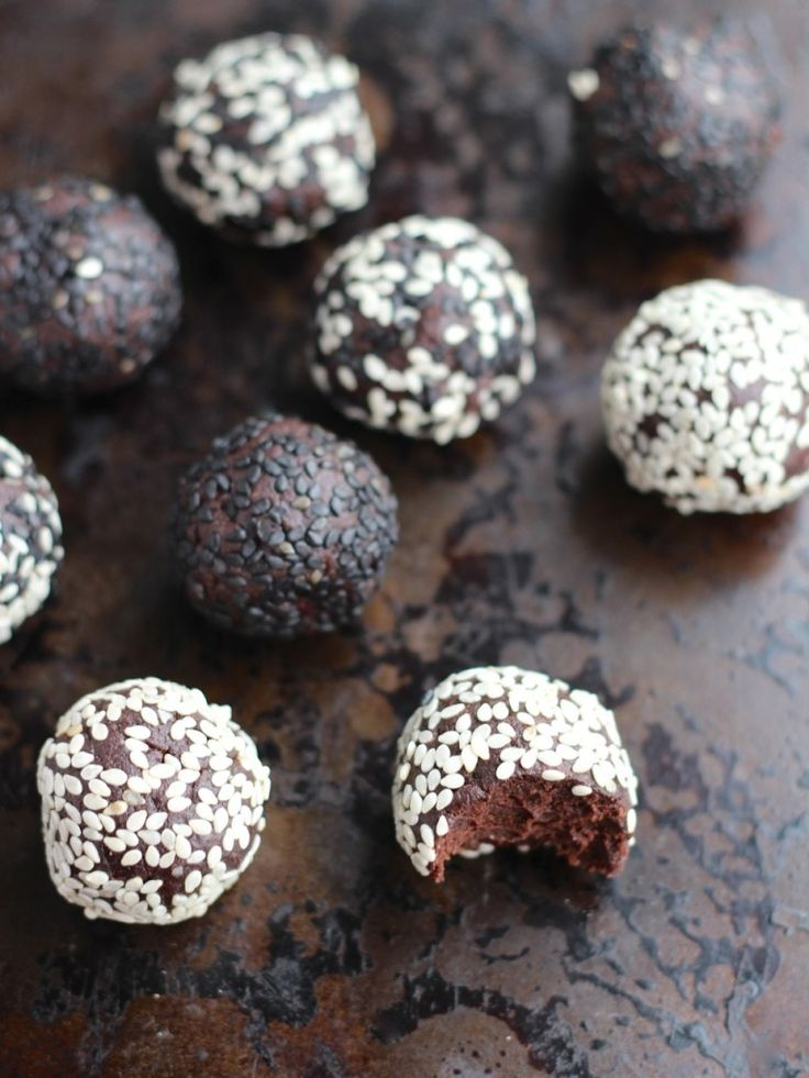 Chocolate Tahini Balls - Natural Kitchen Adventures